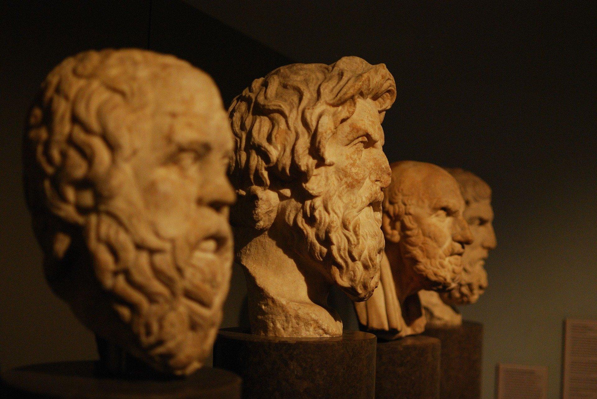 Ancient Greek philospher busts