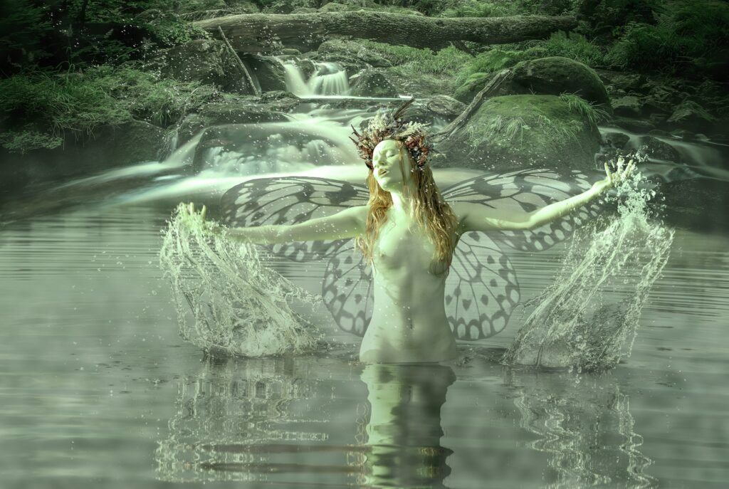A nymph in nature