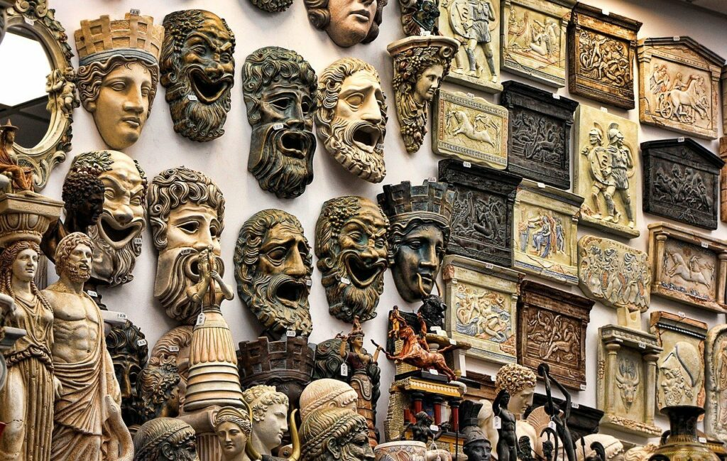 Masks of Greek Gods and Goddesses