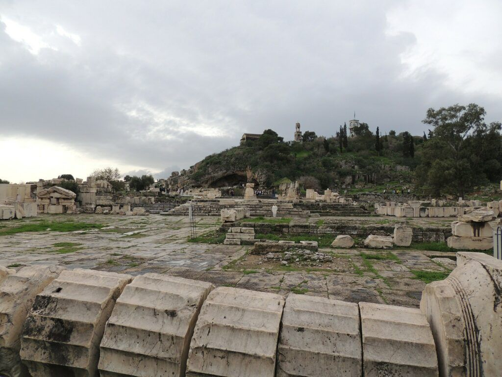 Temple ruins in Eleusis