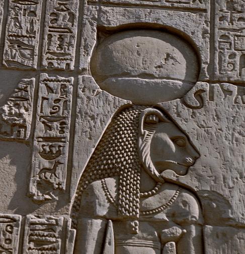 Stone carving of Sekhmet