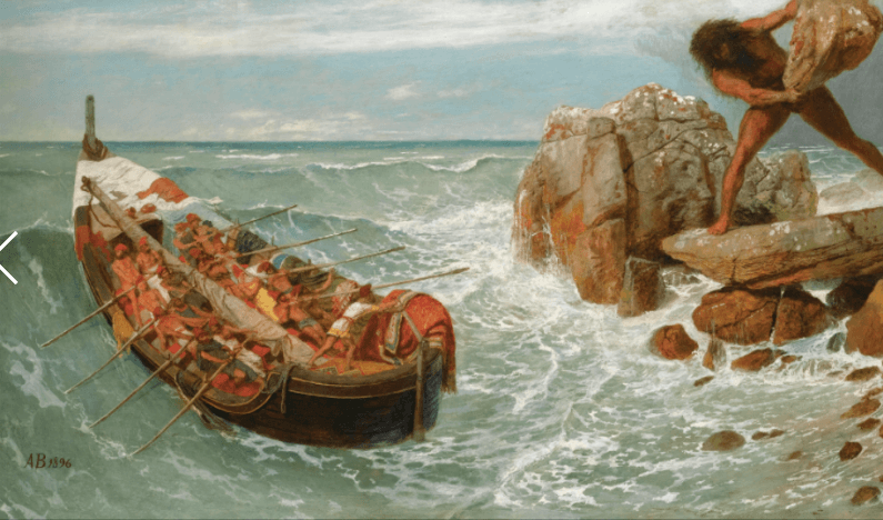 Odysseus and Polyphemus - Arnold Bocklin (1896)