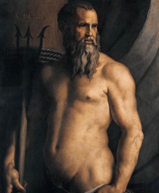 Ritratto di Andrea Doria in veste di Nettuno - Poseidon painting by Bronzino