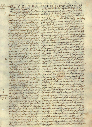 The oldest surviving text from the Popol Vuh