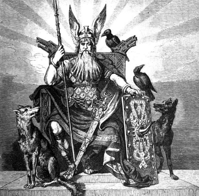 Odin with Geri and Freki - Carl Emil Doepler (1882)