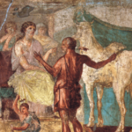 Pasiphae and the bull - Pompeii Fresco
