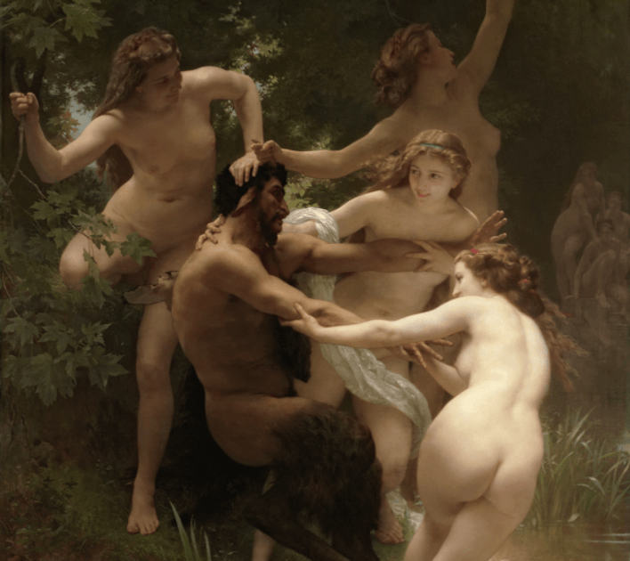 Nympths and Satire - William Bouguereau