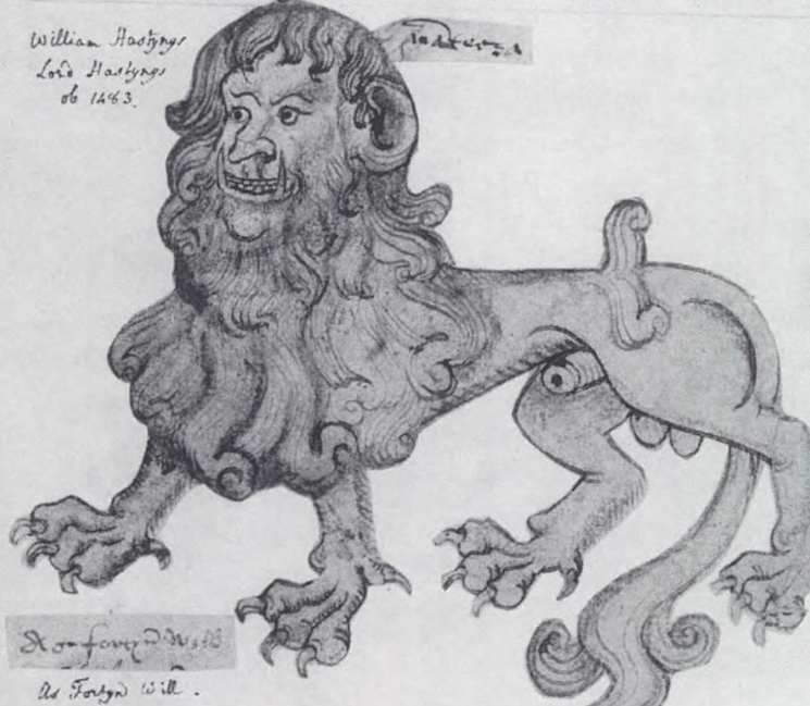 The manticore badge of Lord William Hastings