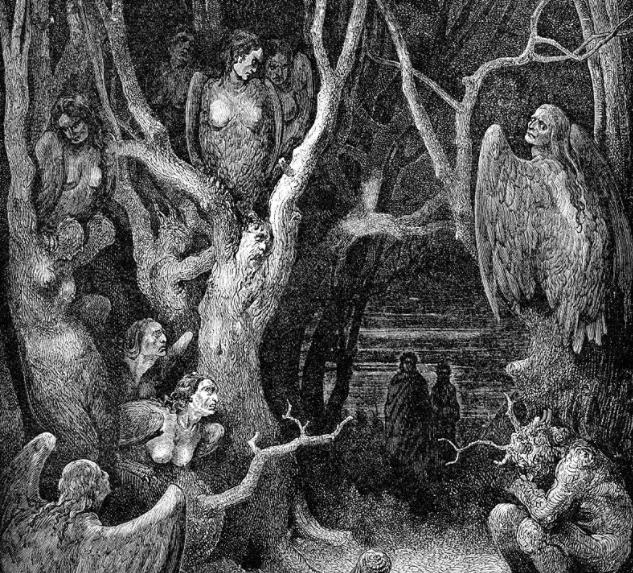 Harpies - Gustave Doré (1861)