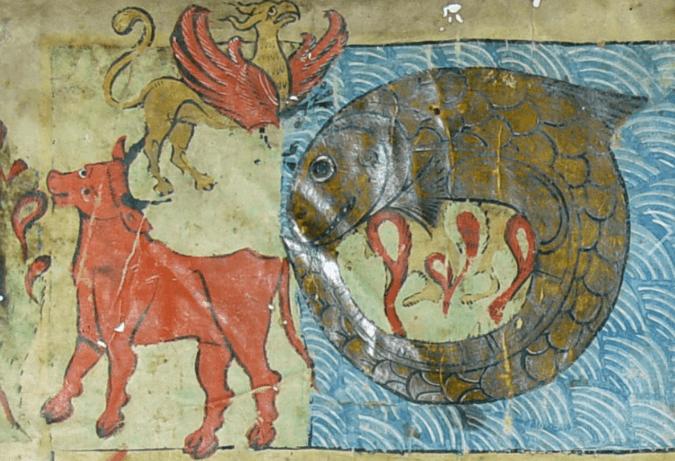 The three biblical beasts - Behemoth, Ziz, and the Leviathan