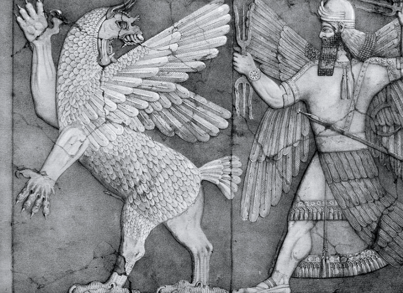 Ziz is widely believed to be modelled on the Sumerian Anzu