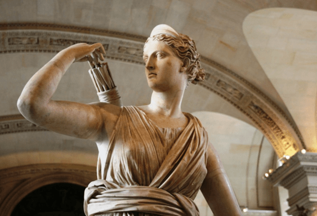 Artemis was known as Diana in Roman mythology