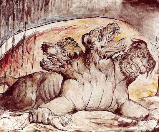 Cerberus is the son of Typhon and Echidna