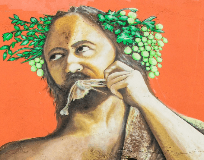 Dionysus is the god of wine, insanity, and fertility