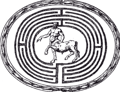 The Minotaur at the centre of the Labyrinth