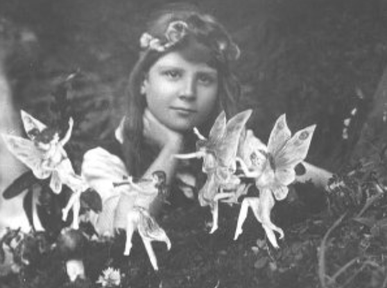 The first Cottingley Fairy picture (1917)