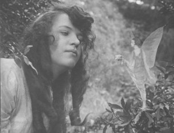 The second of the 1920 Cottingley Fairies pictures