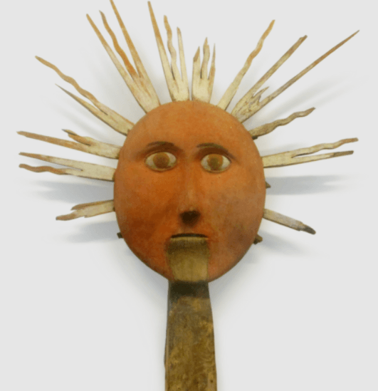 Early 20th century idol of the Sun god Saulé