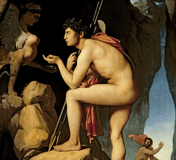Oedipus and the Sphinx - Jean Ingres (C. 1808)
